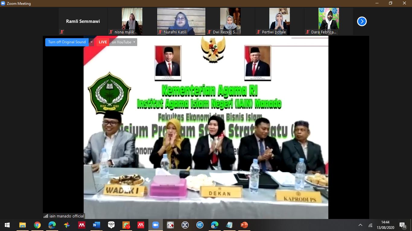 """Yudisium Pertama """"Virtual"""" FEBI IAIN Manado"""