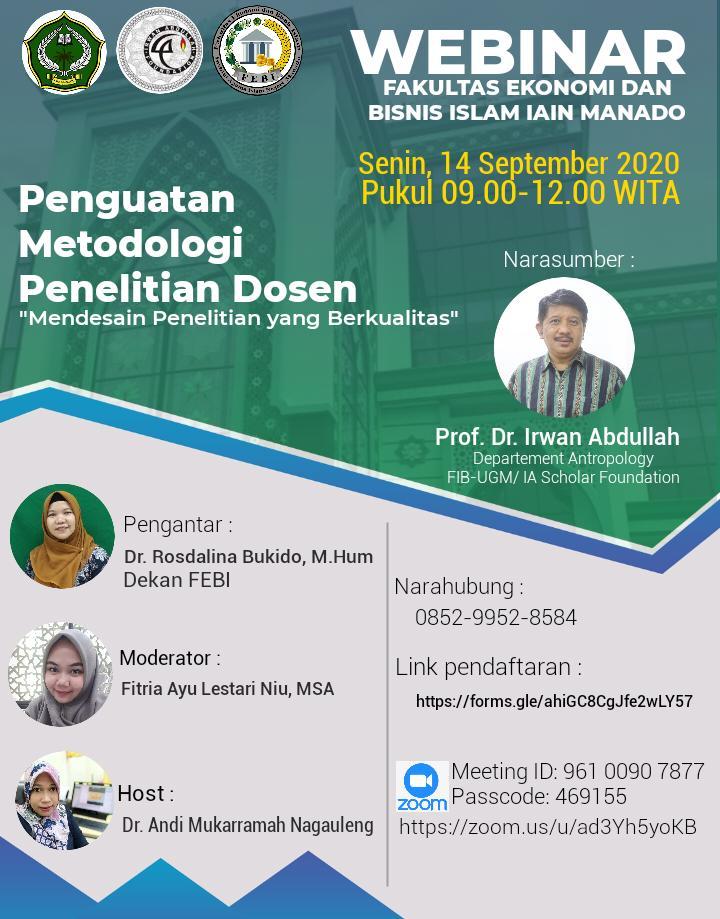 Webinar FEBI bersama Prof Irwan Abdullah