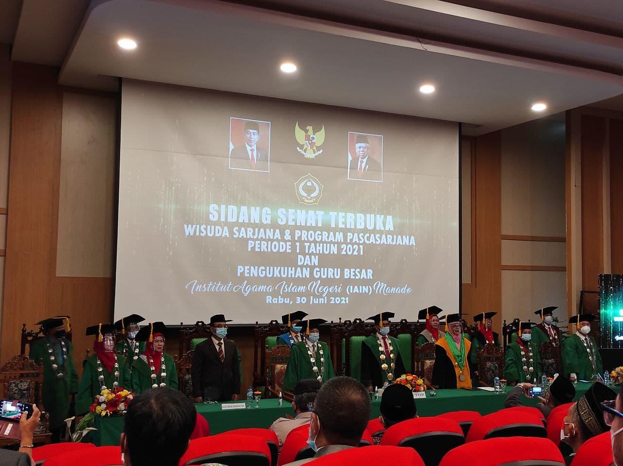 Wisuda Periode 1 Tahun 2021 FEBI IAIN Manado